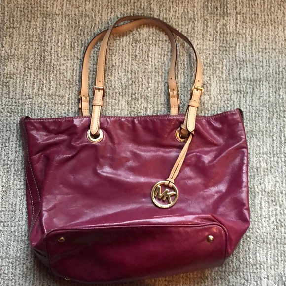 093a07eb920911 MICHAEL Michael Kors Bags   Authentic Michael Kors Dark Pink Leather ...